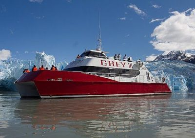Navigation to Grey Glacier