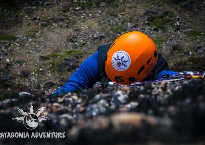 Casco escalada. Foto: Alan Oyarzo
