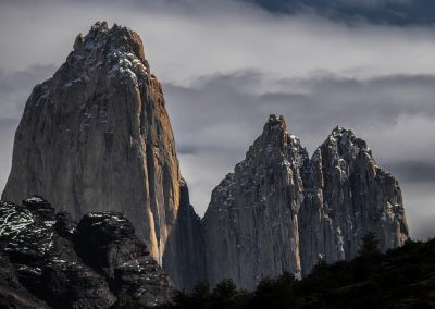 Torre Central, Torre Norte. Foto: Alan Oyarzo
